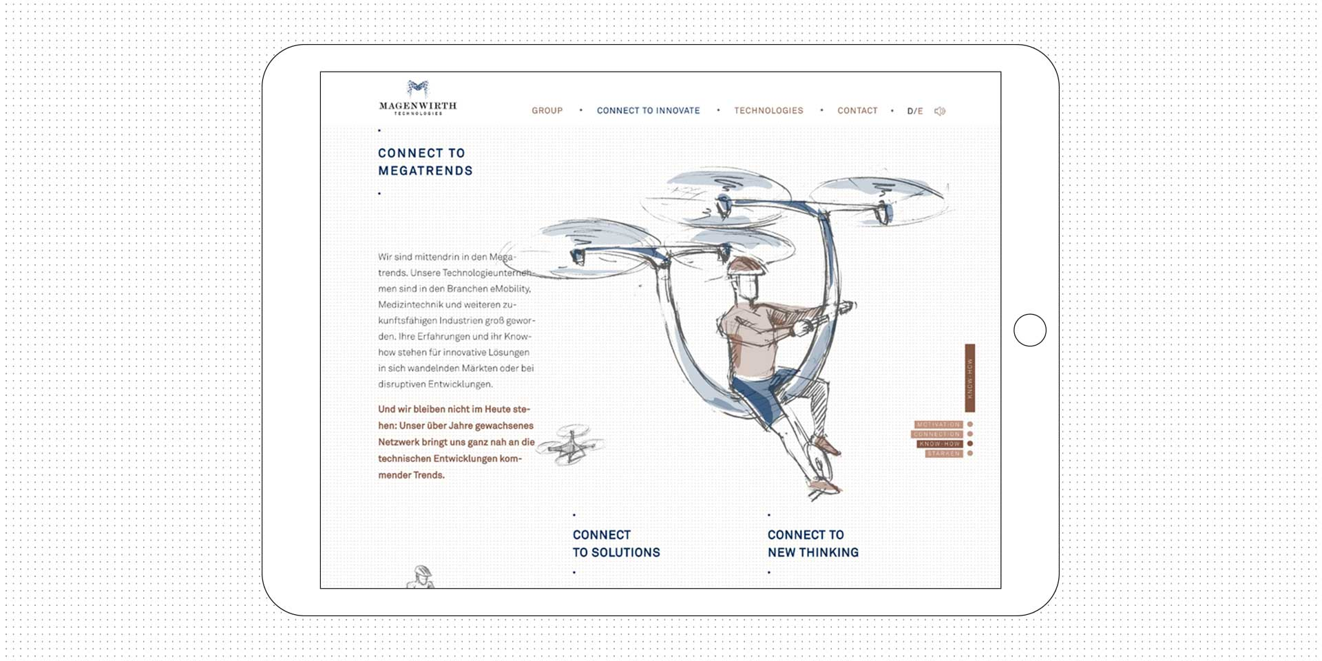 magenwirth-technologies website tablet megatrends polarwerk
