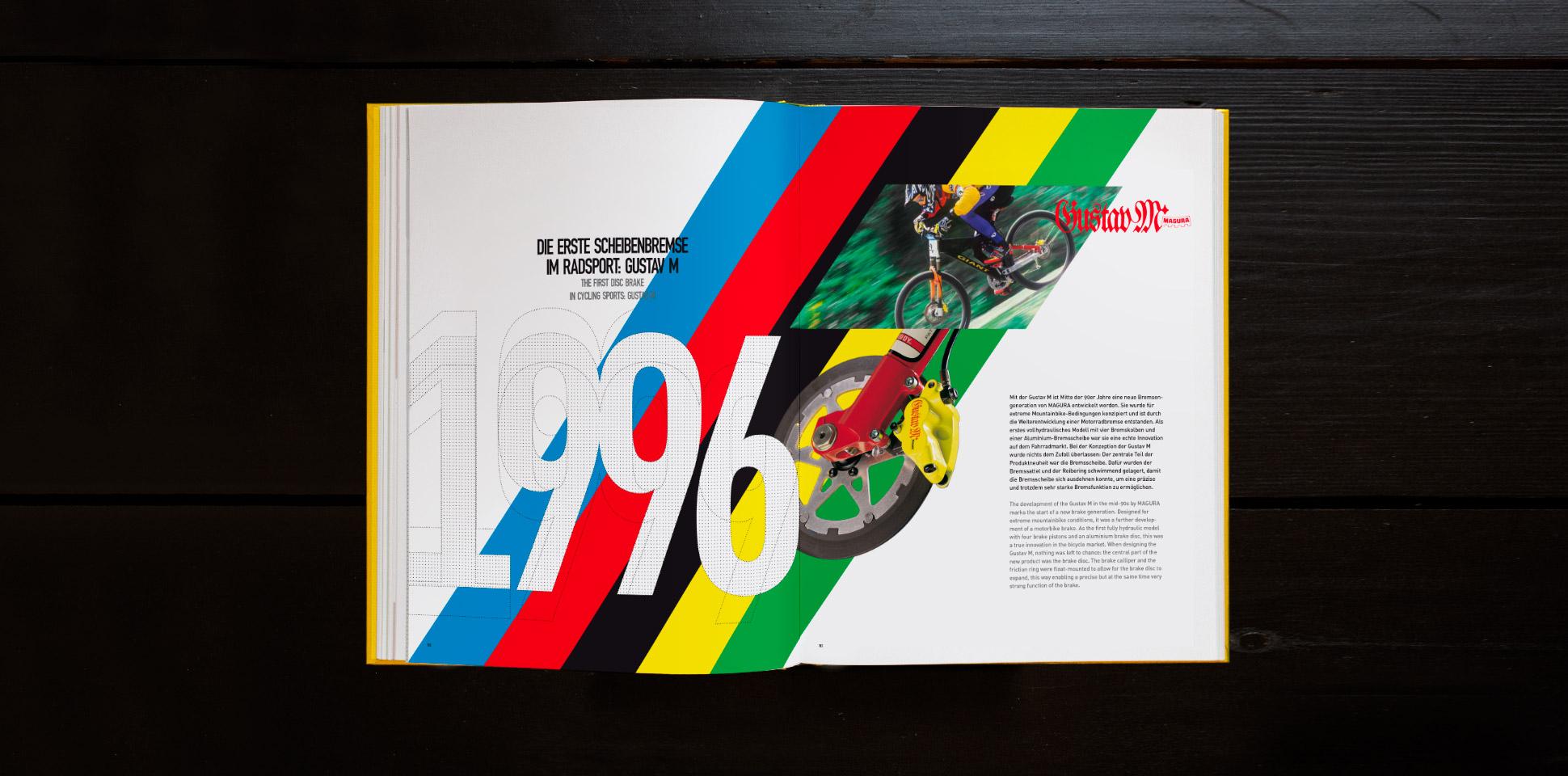 magura jubilaeum-buch doppelseite 1996 polarwerk
