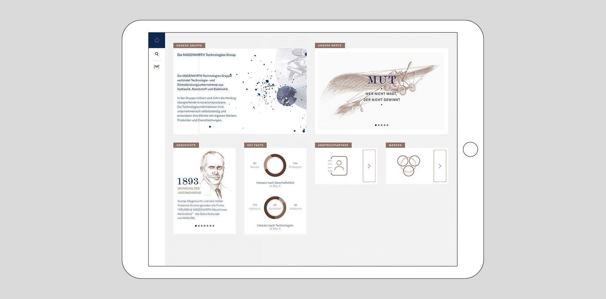 magenwirth-technologies intranet webseite tablet polarwerk