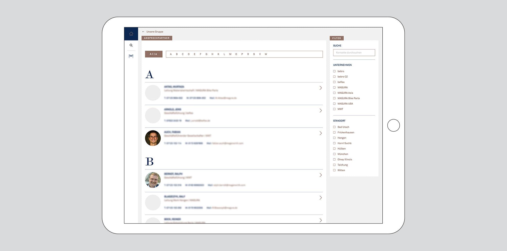 magenwirth-technologies intranet webseite ansprechpartner tablet polarwerk