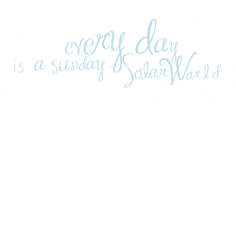 solarworld sunday schriftzug polarwerk