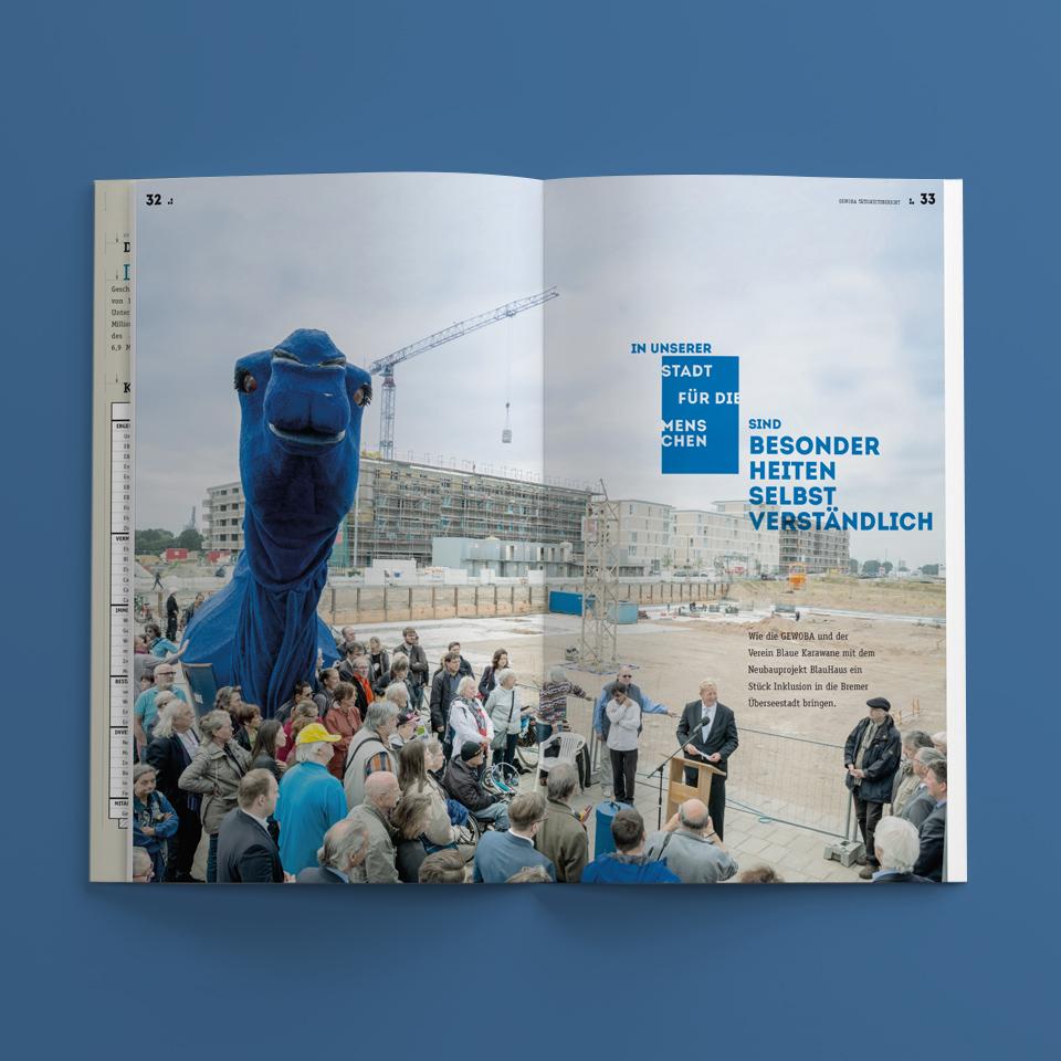 gewoba taetigkeitsbericht doppelseite blauer-kamel 2018 polarwerk